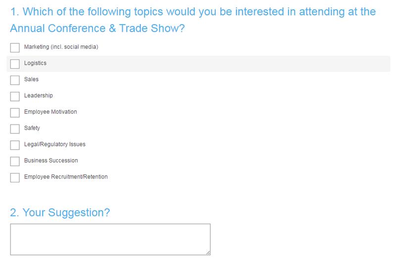 Topics for San Antonio Survey